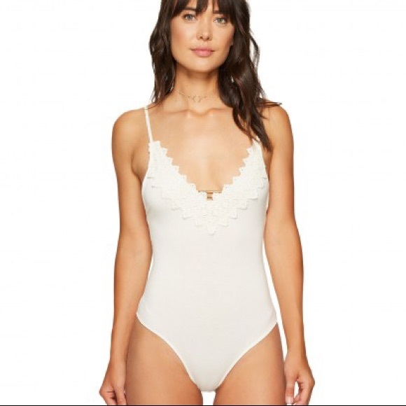 bc9036c4fb6 Free People Gia Bodysuit in Ivory NWT